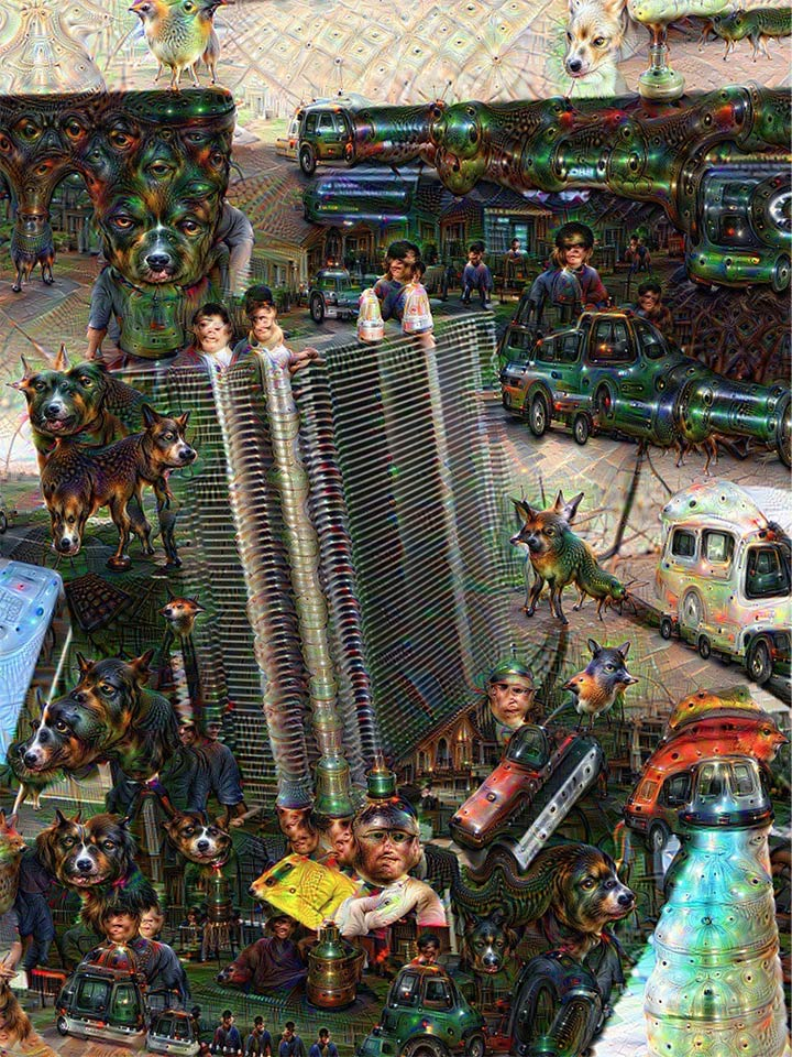 deep dream picture of itself