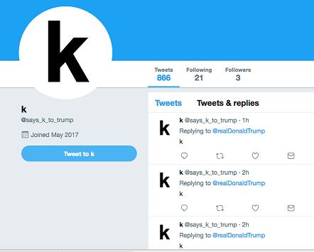 Twitter user screenshot