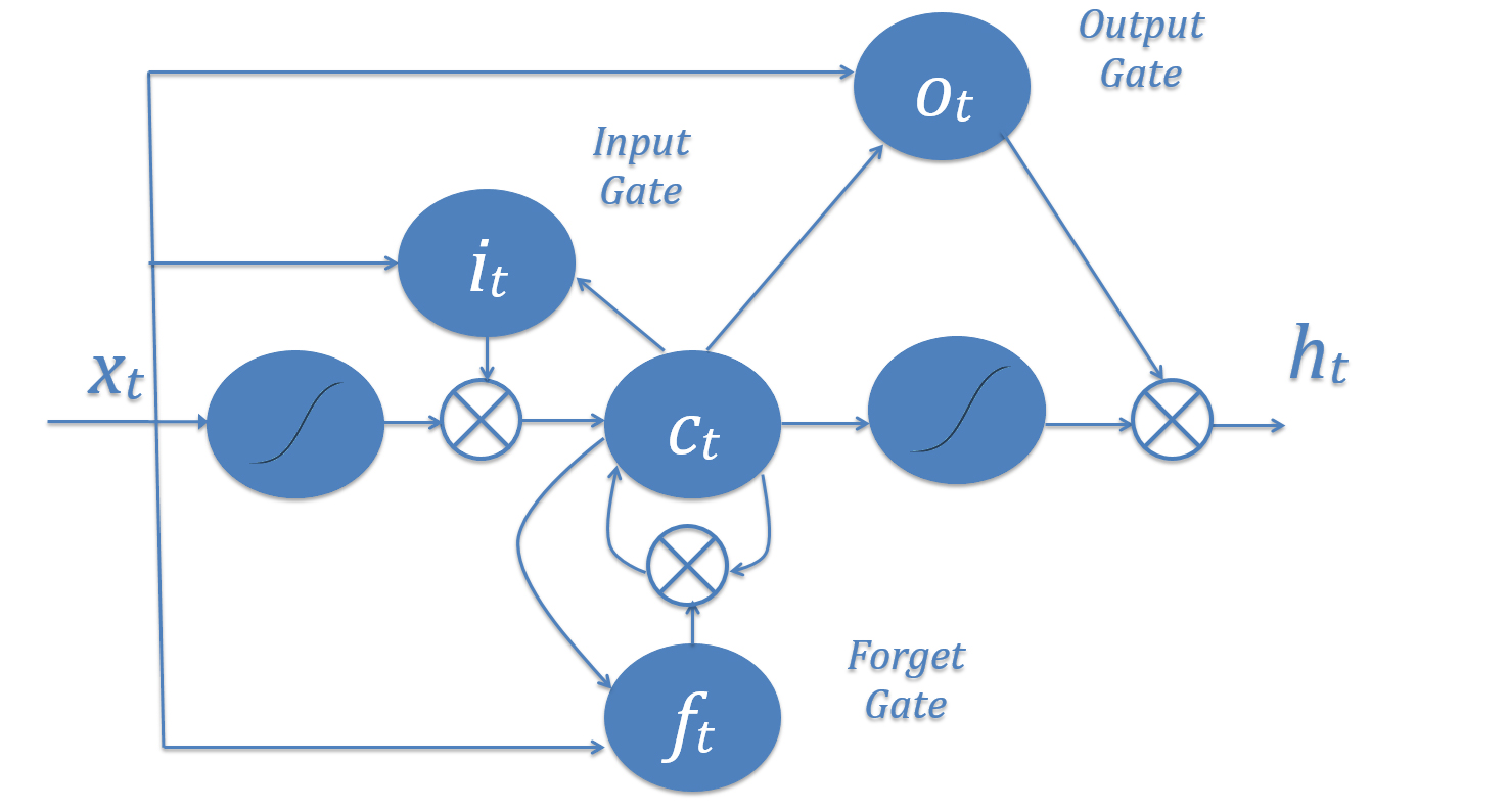 hidden units within an LSTM layer