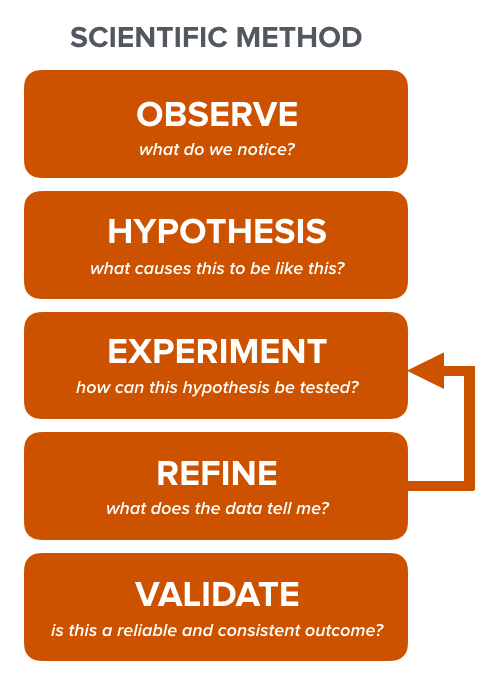 simplified version of the scientific method