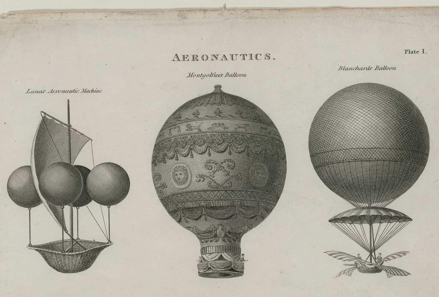 Early aeronautics, 1818.