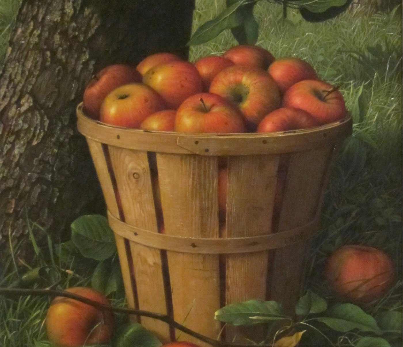 Basket of Apples, 1895, by Levi Wells Prentice.