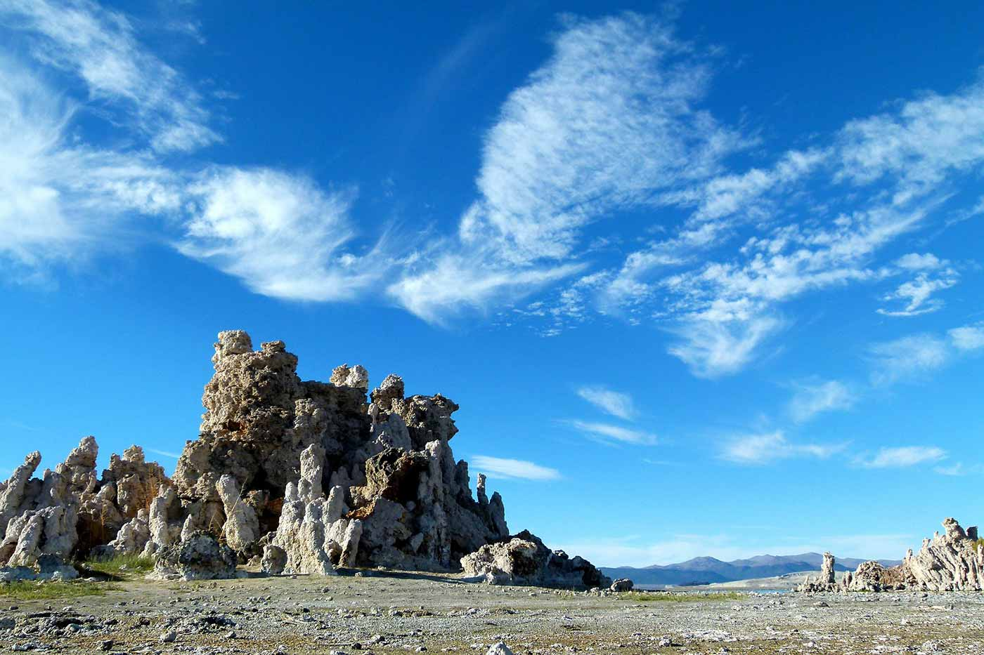 Clouds over a desert landscape