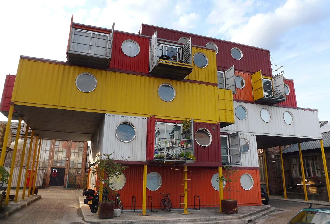 Container City 2 at Trinity Buoy Wharf, London in September 2012.