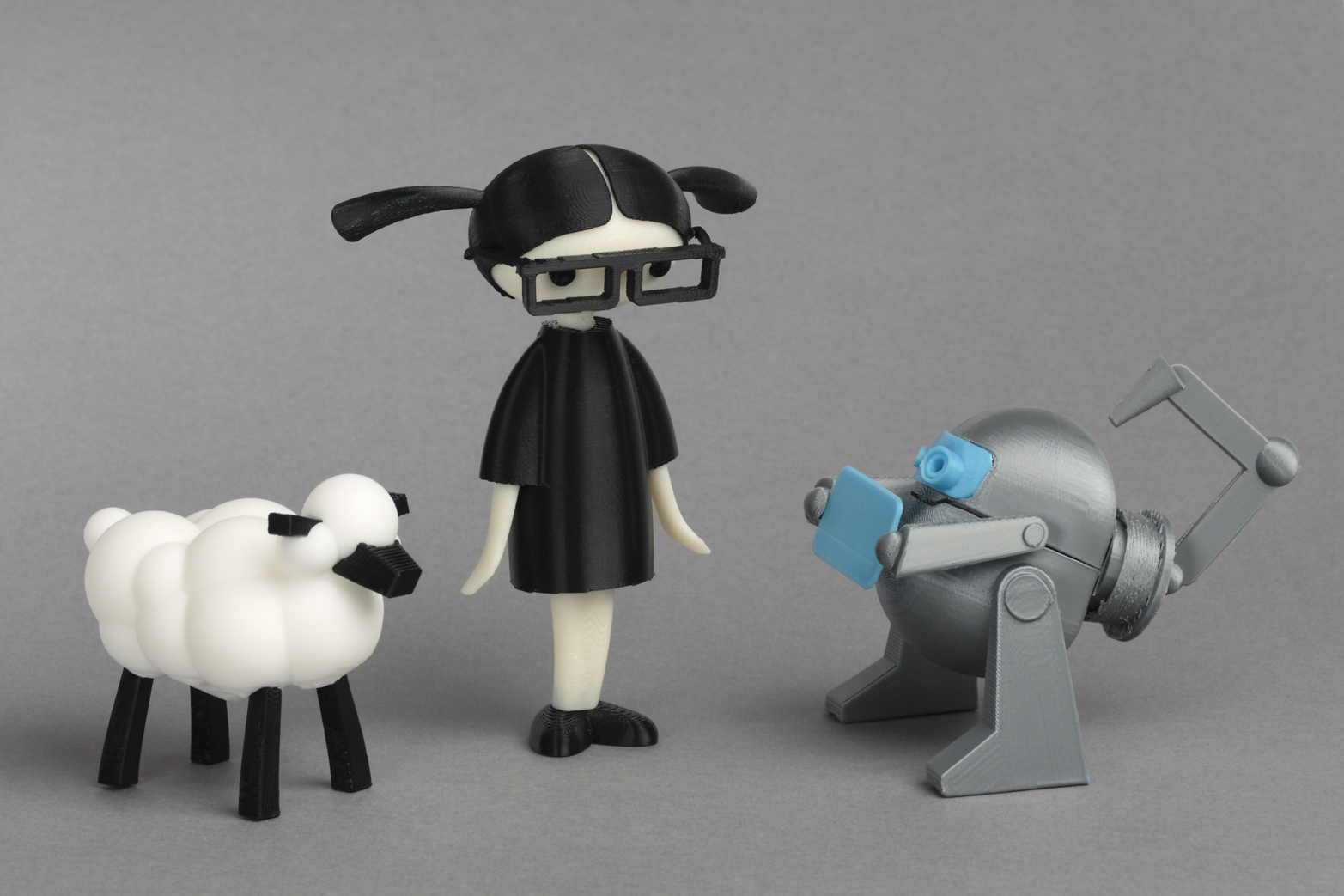 All of the characters from the book can be 3D printed. (Photo courtesy Carla Diana)