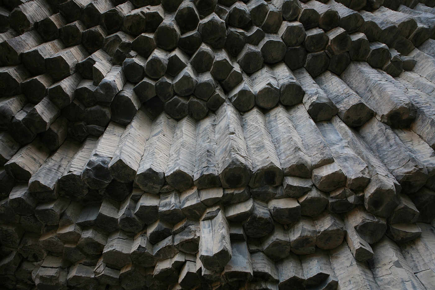Symphony of the Stones carved by the Goght River at Garni Gorge in Armenia is an example of an emergent natural structure.