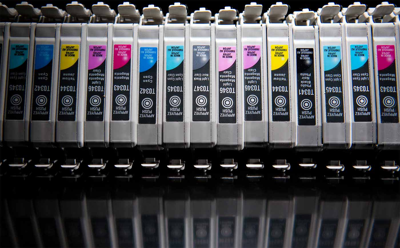 Used ink cartridges.