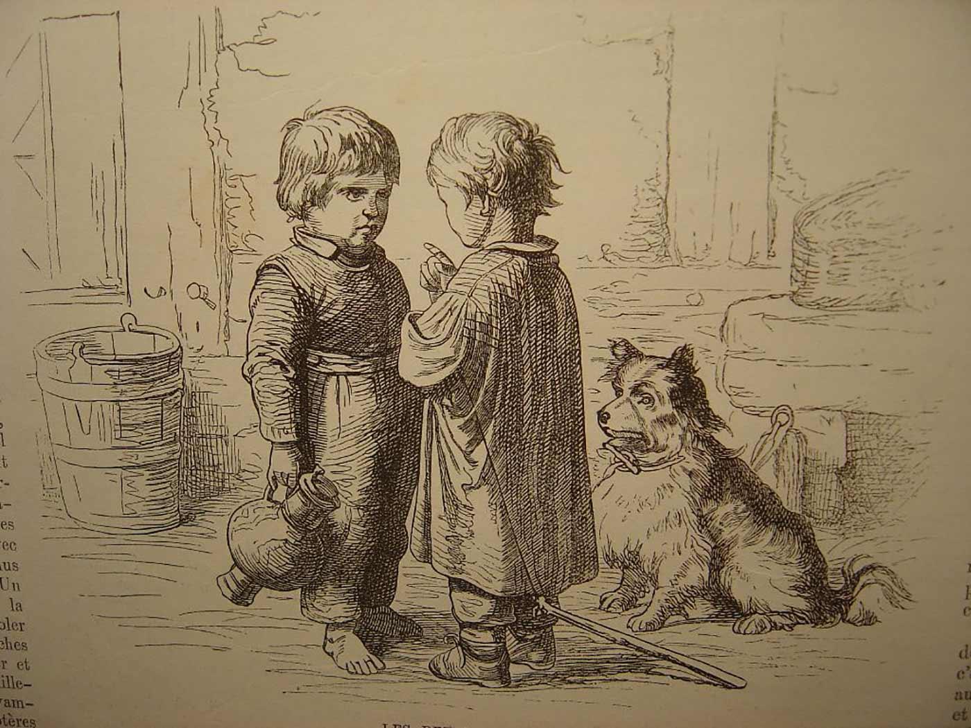 """""""Les Petits Secrets,"""" l'illustration Européenne, 1872, no.34, page 272."""