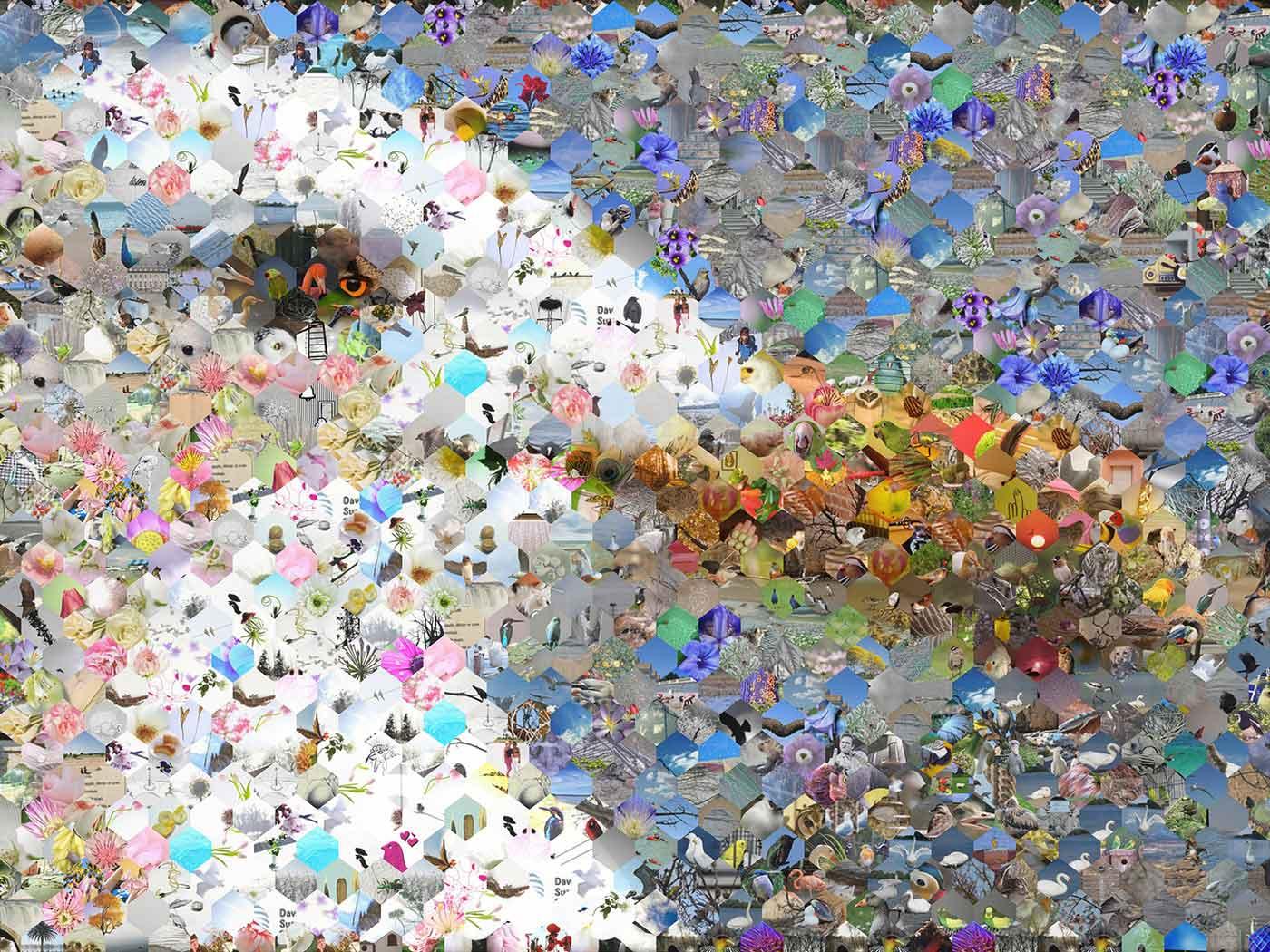 Photographic mosaic.