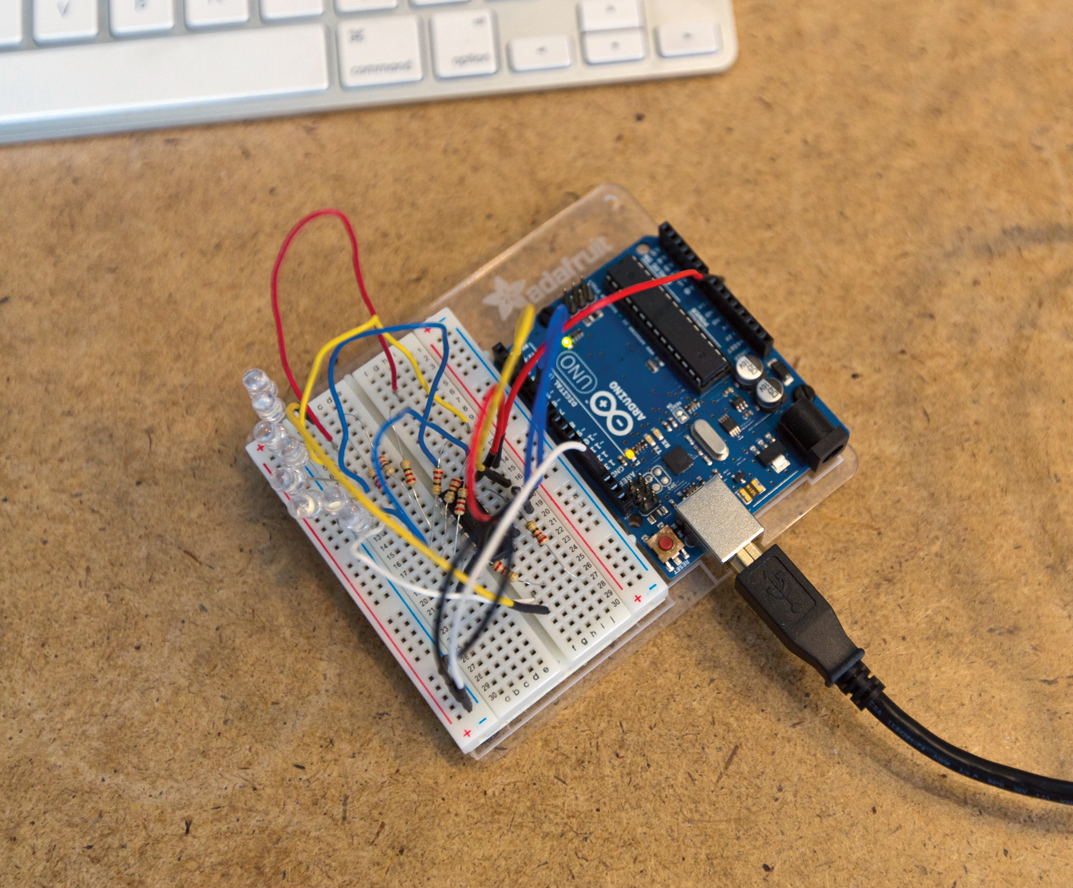 Personal electronics require many levels of electronic prototyping, including testing the individual components such as the LED output this prototype is testing