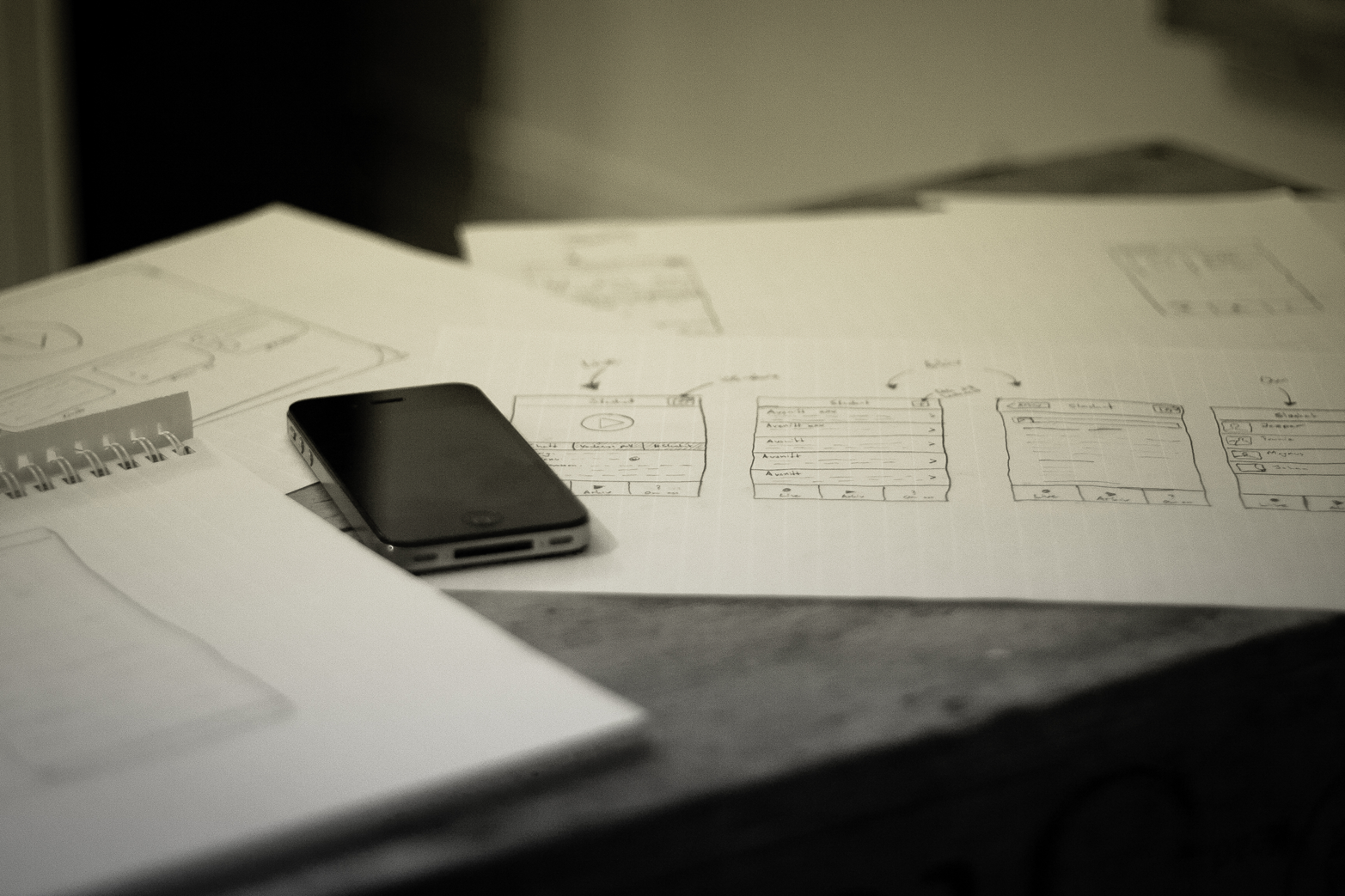 Digital software and apps need initial paper prototypes to explore and try a variety of different directions for the design (photo courtesy of Flickr user Johan Larsson)