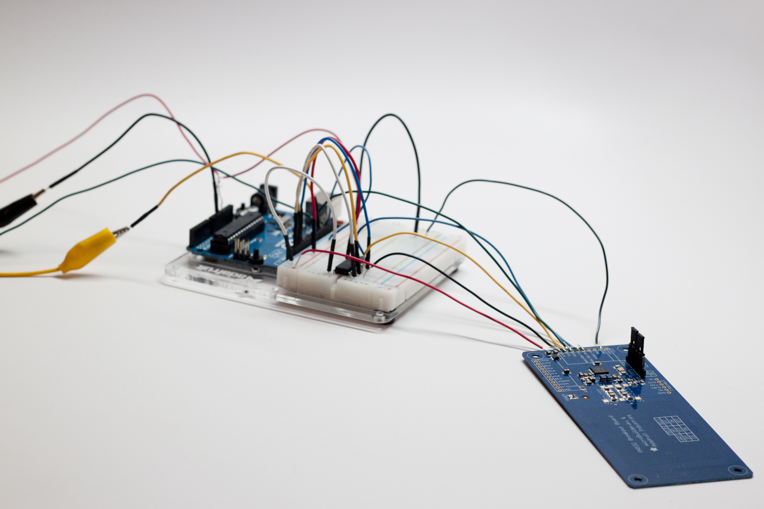 Component prototypes test high-level assumptions about which electronic parts are necessary for the product