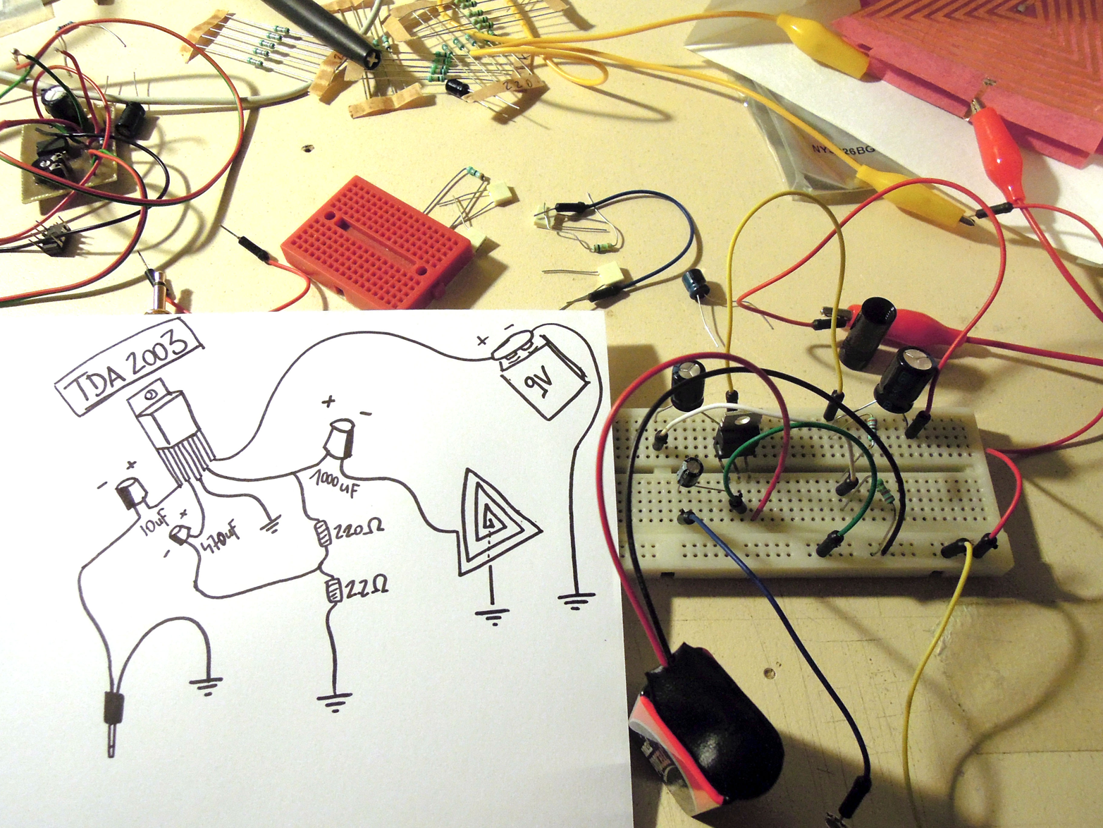 Low-fidelity circuit sketches can be written out as a story or drawn as a diagram (courtesy of Flickr user Dileck)