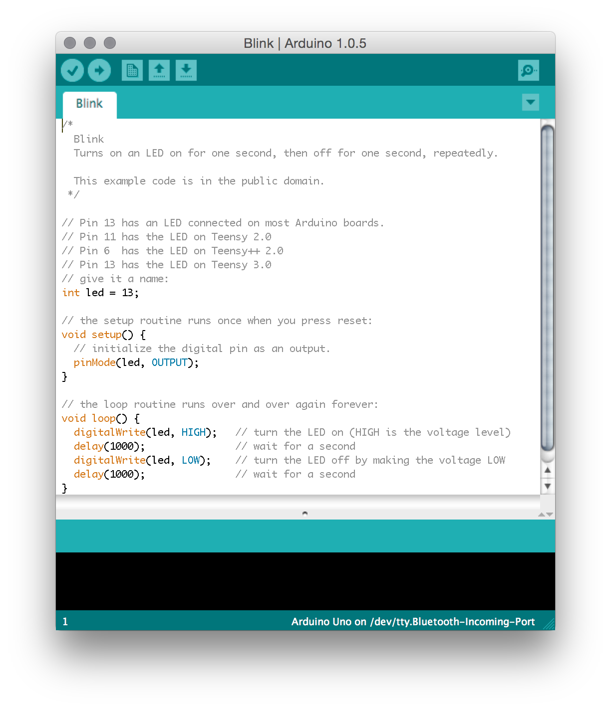 """In the Arduino software code is written in C and saved as """"sketches"""