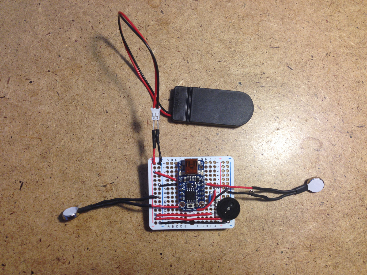 The second prototype tested the viability of haptic output