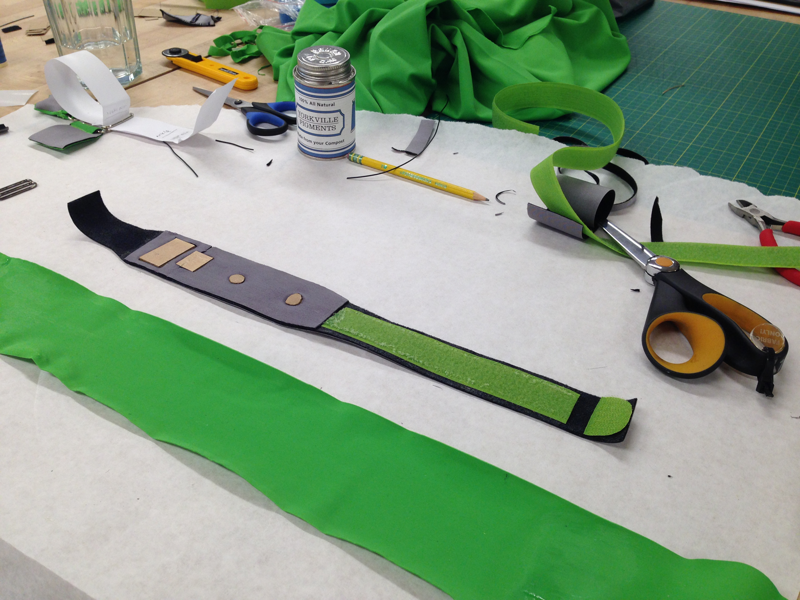 The fifth prototype tested materials for a sports use case