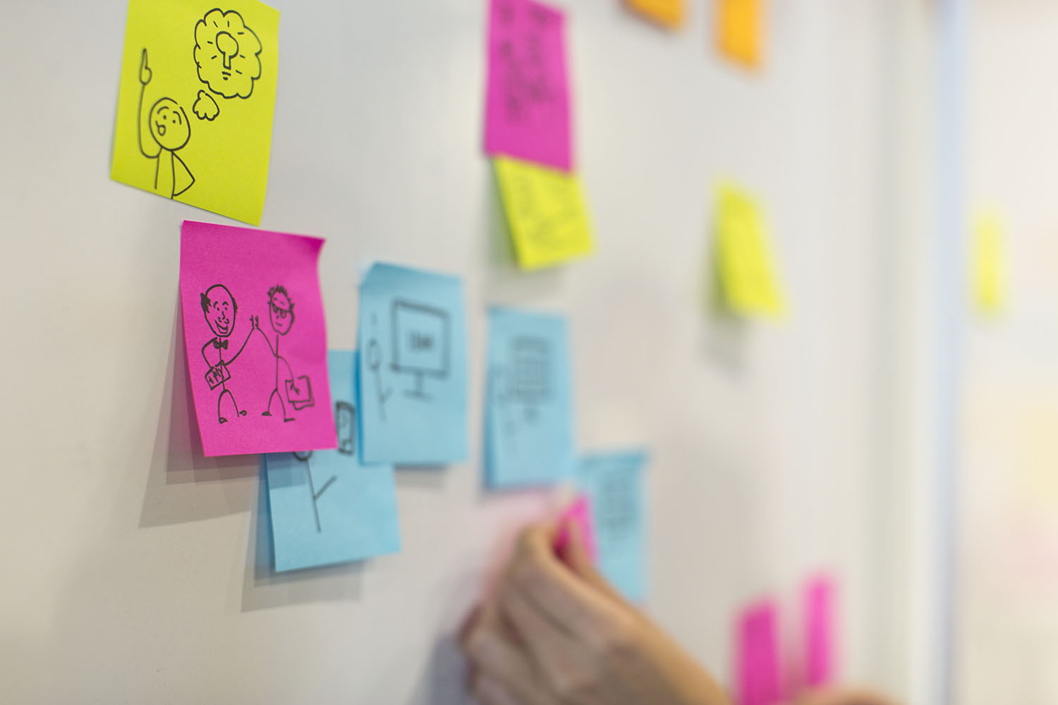 User flows can be drawn or written, to guide the product development with the user's story in mind