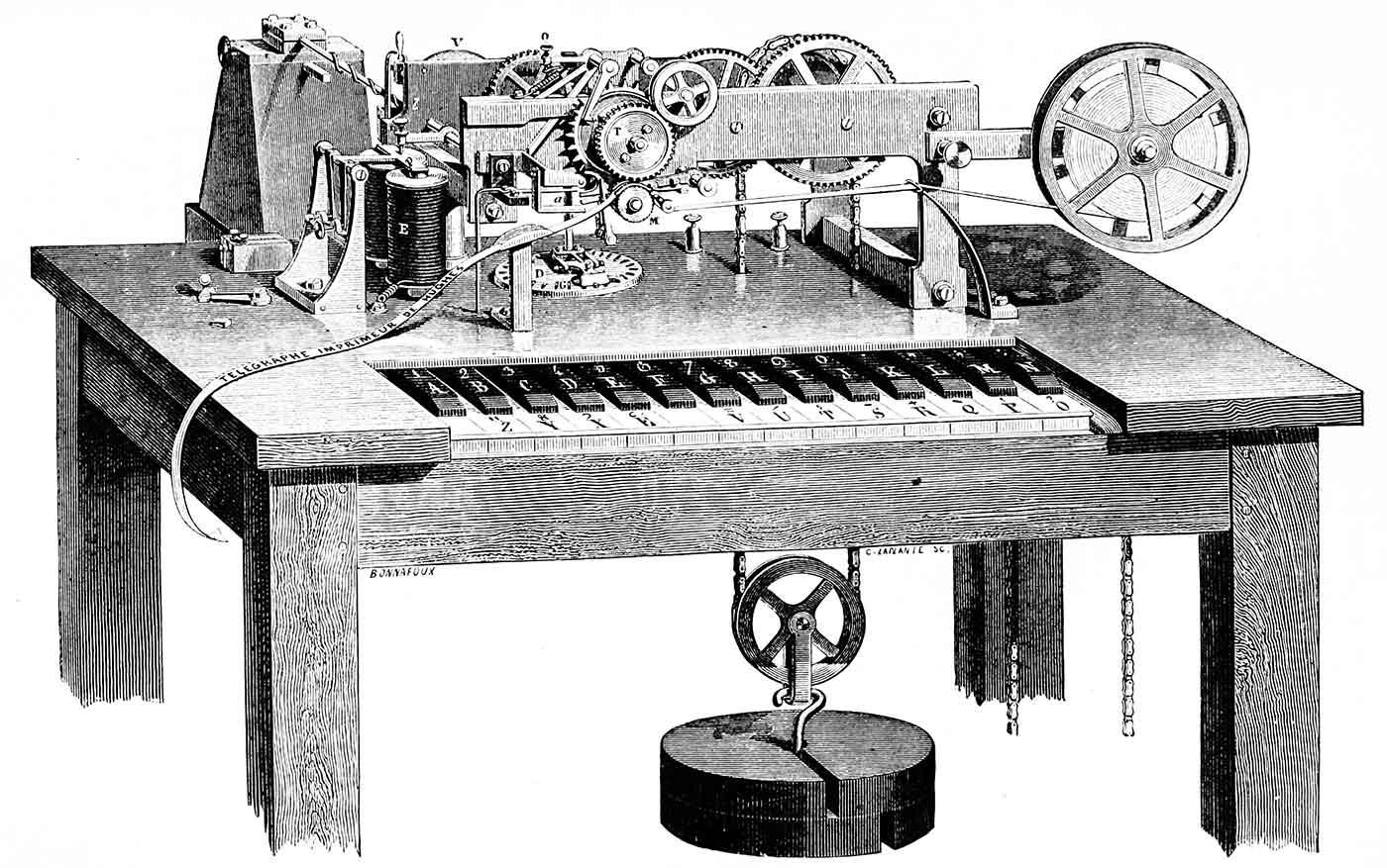 Hughes printing telegraph, 1872-1873.