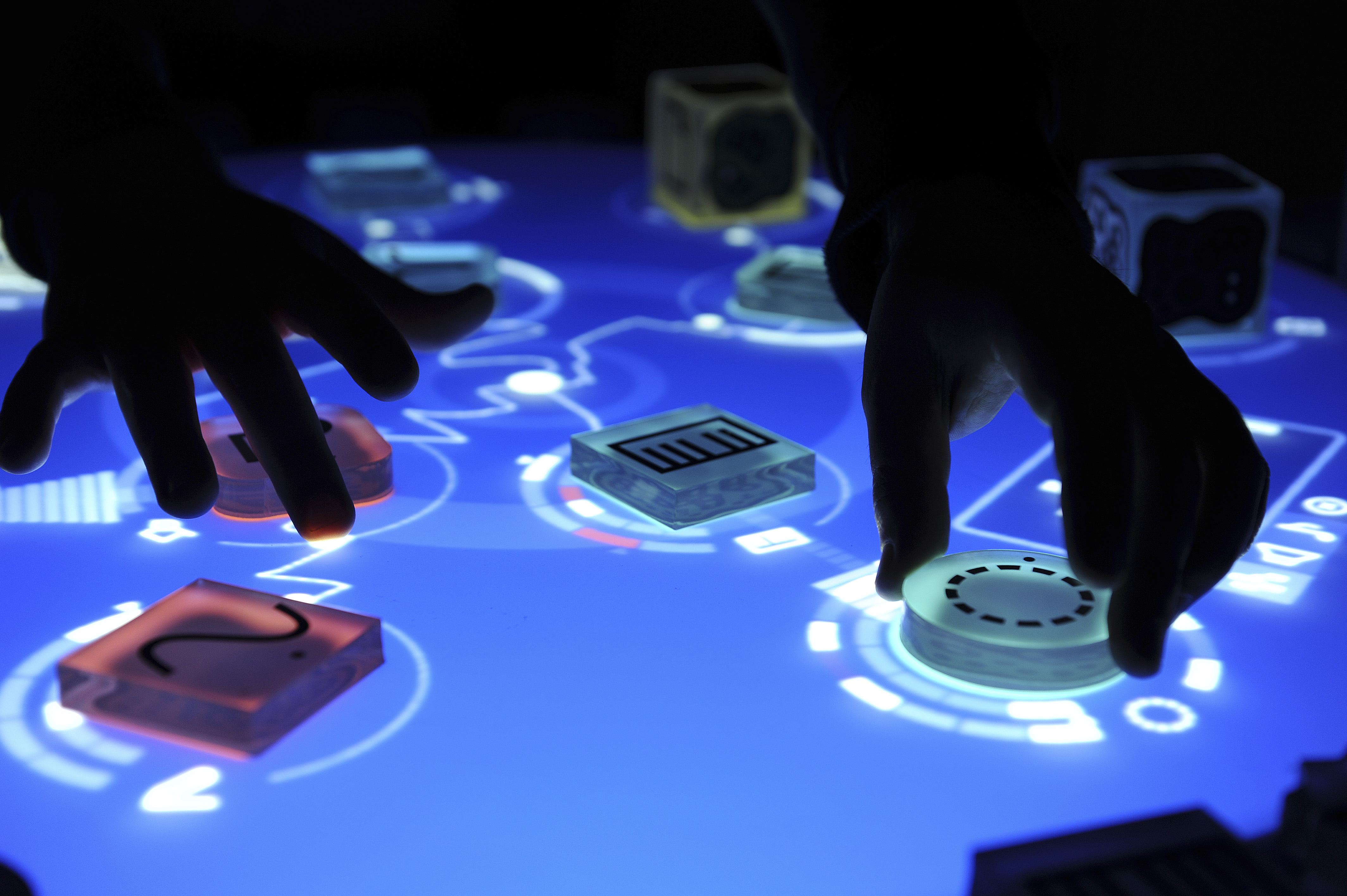 A Reactable in use playing music
