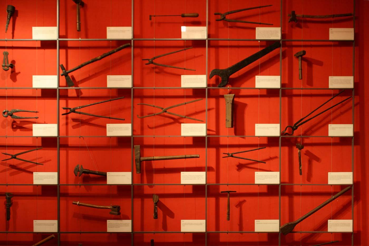 Tools on display