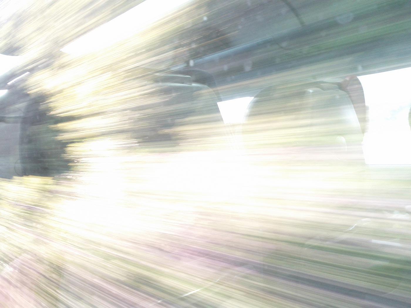 Train approaches warp speed.