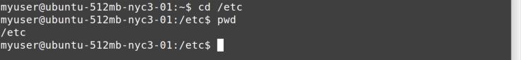 cd /etc command
