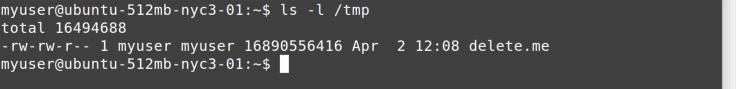 ls tmp command