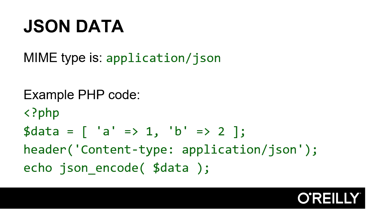 """Screenshot from """"What is the correct JSON content type?"""""""
