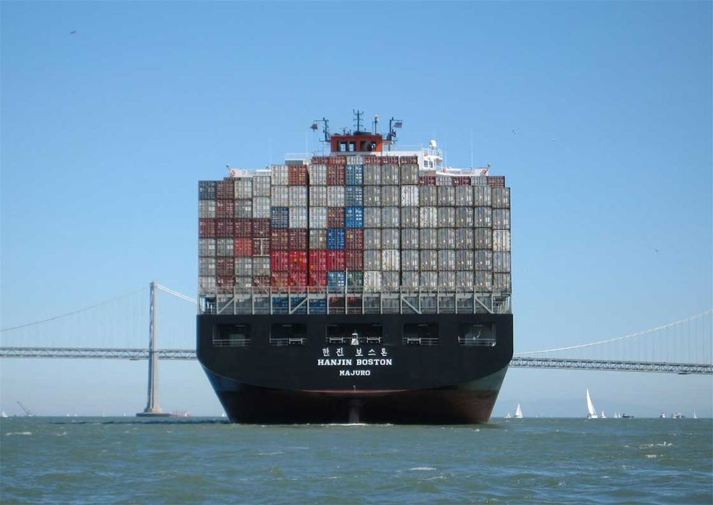Hanjin container ship, San Francisco Bay