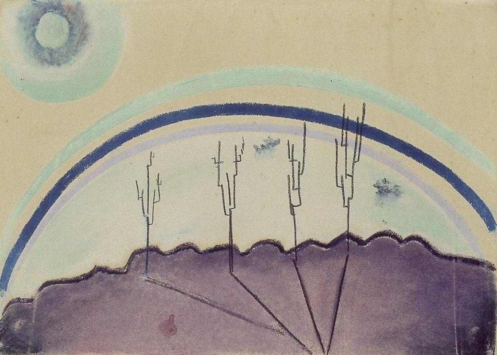 Theo van Doesburg, Landscape, 1915, pastel on paper