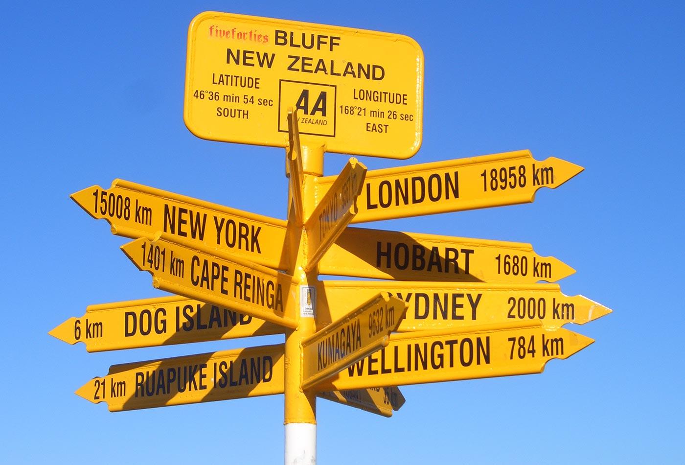 Bluff sign.