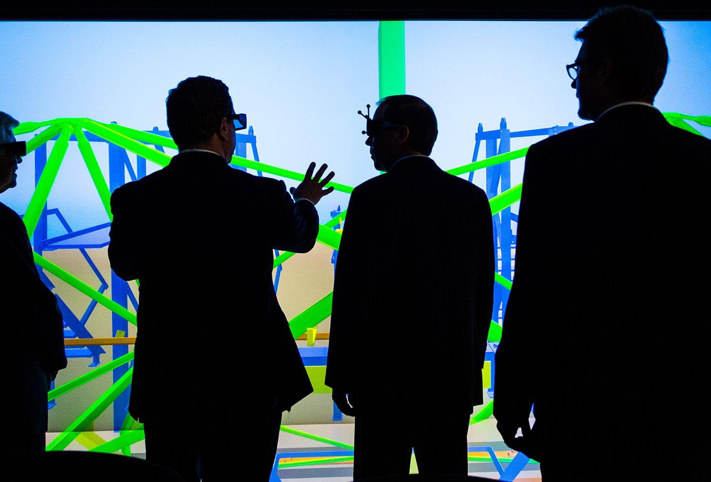 The 3-D Visualization Lab at the Energy Systems Integration Facility.