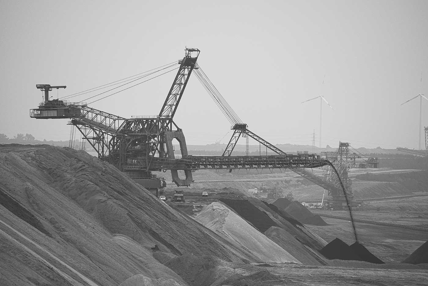 A bucket-wheel excavator at Garzweiler surface mine.