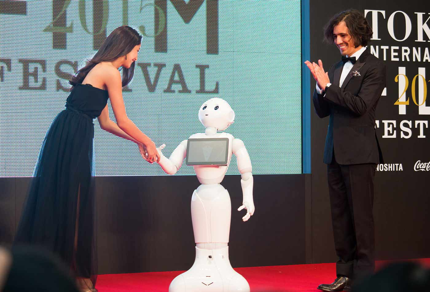 Pepper at the Opening Ceremony of the 28th Tokyo International Film Festival.