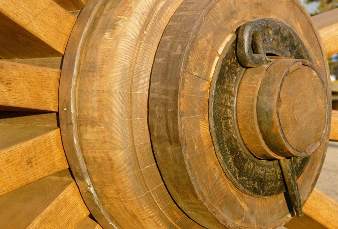 Logging wheel hub.