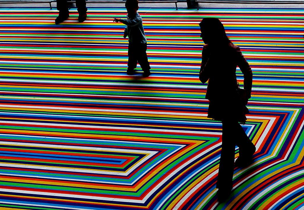 Jim Lambie, ZOBOP! installation at MoMA