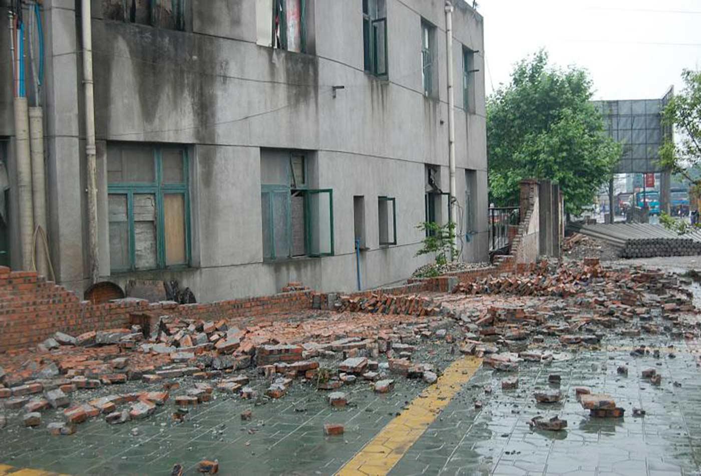 Crumbled Wall.