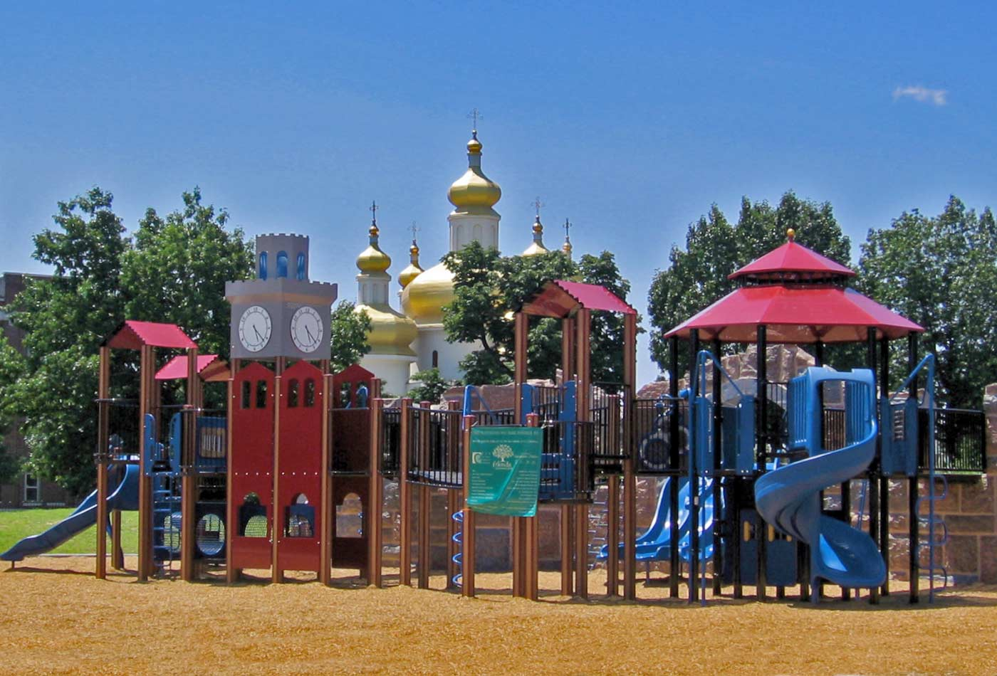 Playground in Patterson Park, Baltimore, Maryland.