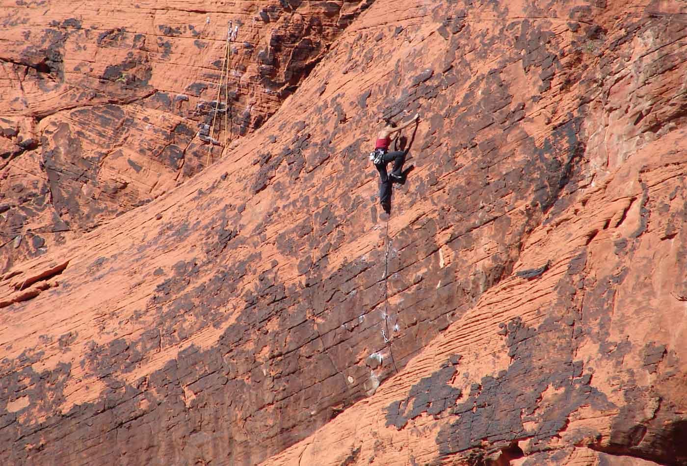 Red Rock rock climbing.