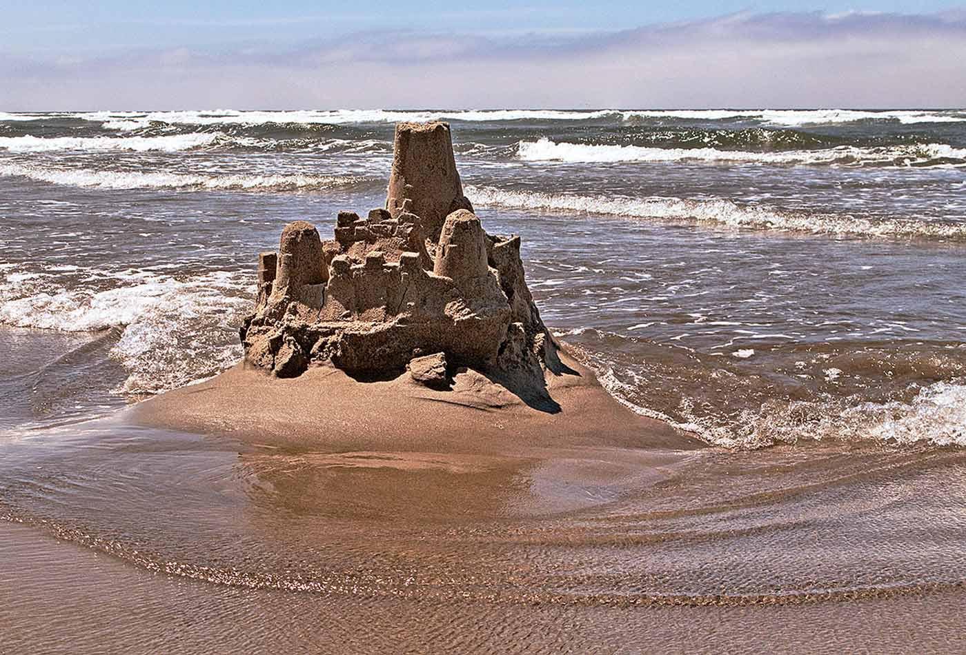 Sand Castle at Cannon Beach.