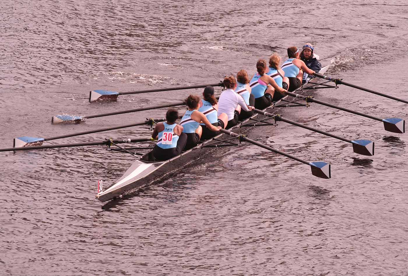 Tufts rowing team