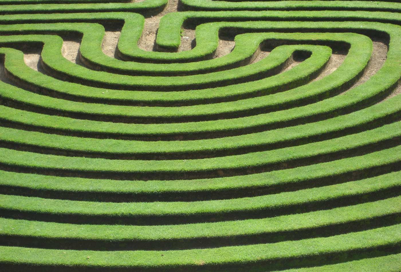 Cockington Green Gardens Maze.