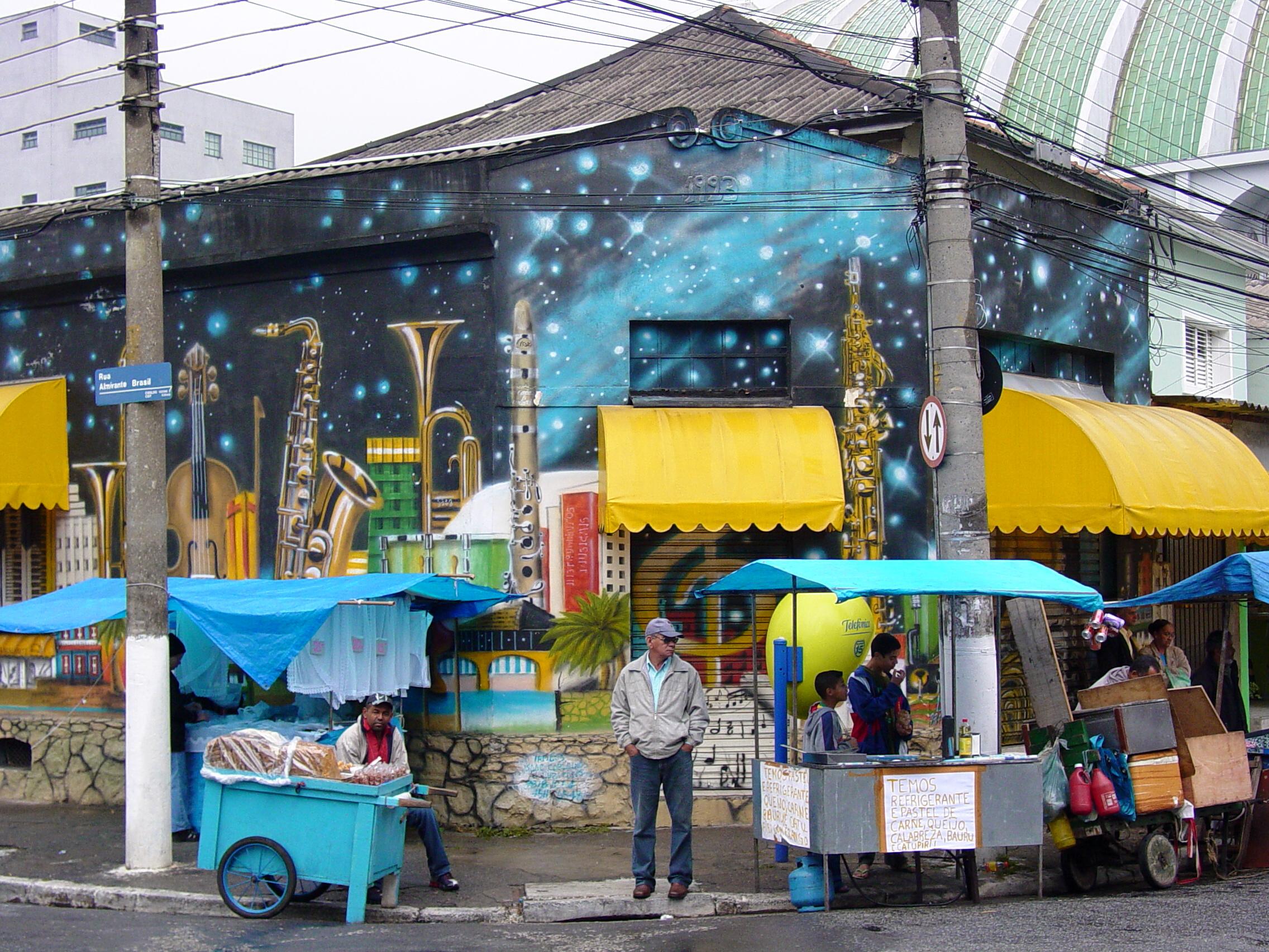 Street Scene in Sao Paulo - Brazil 01