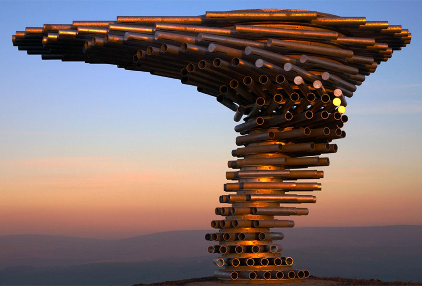 Singing Ringing Tree at Sunset.