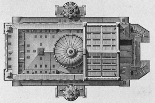 Roof plan of the Paris Opera's Palais Garnier