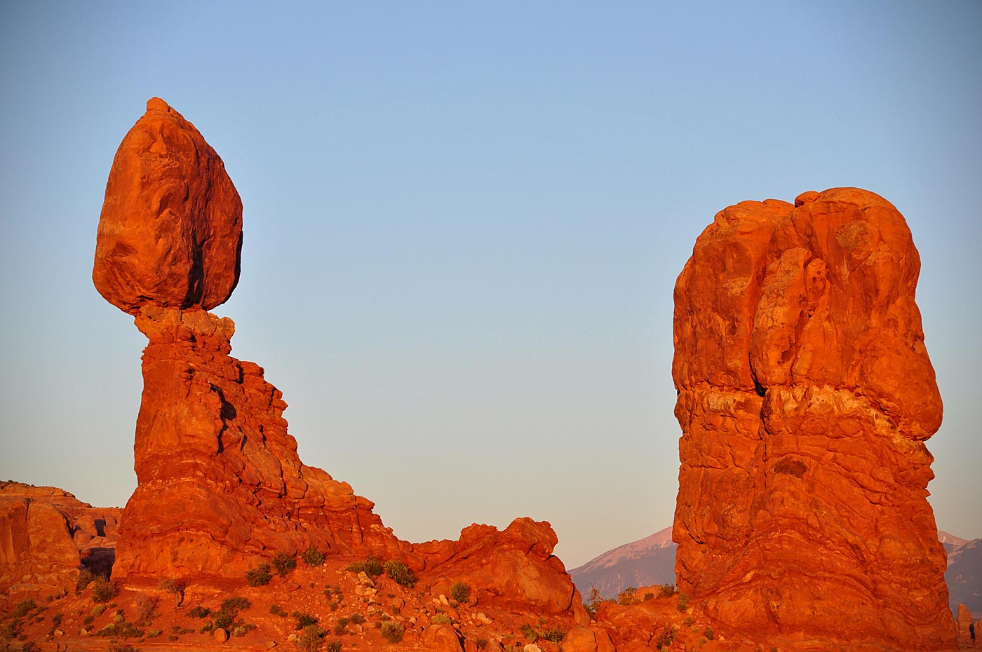 """Balanced Rock at Sunset."""
