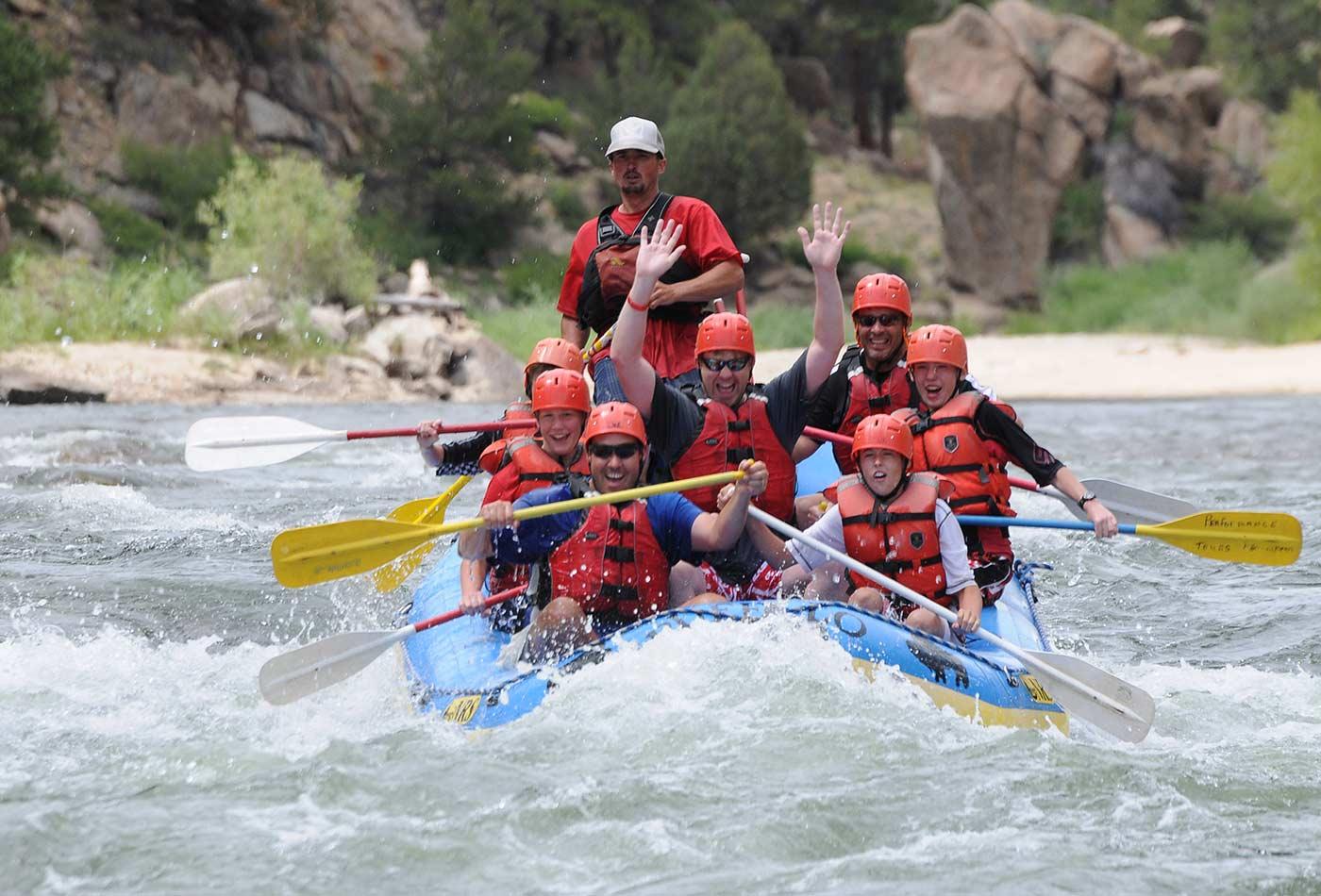 River rafting in Colorado.