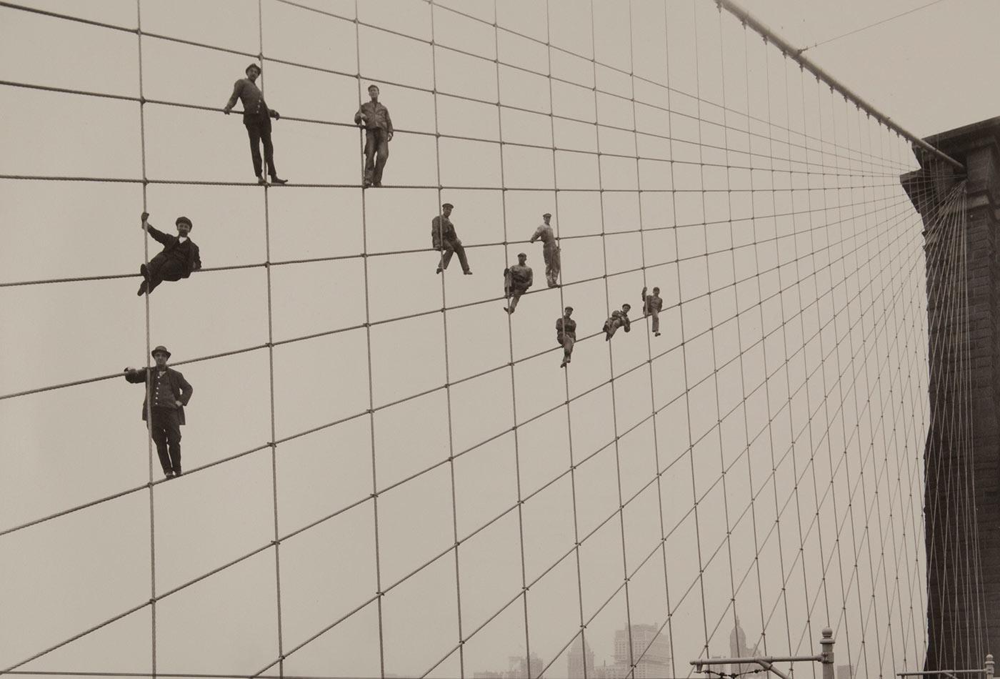 Painters on the Brooklyn Bridge.