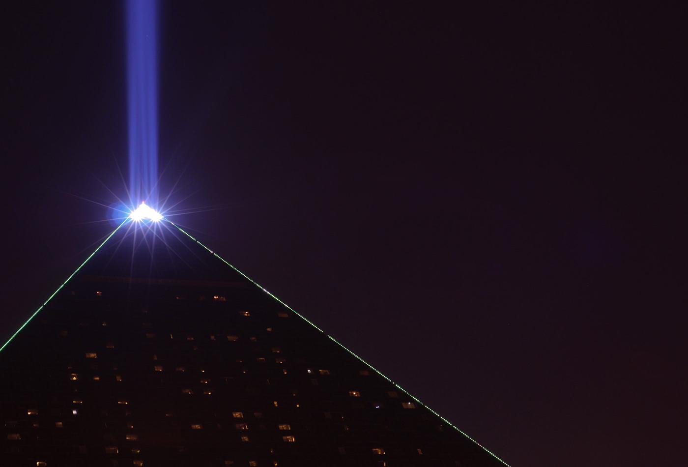 Light beam, Luxor, Las Vegas.