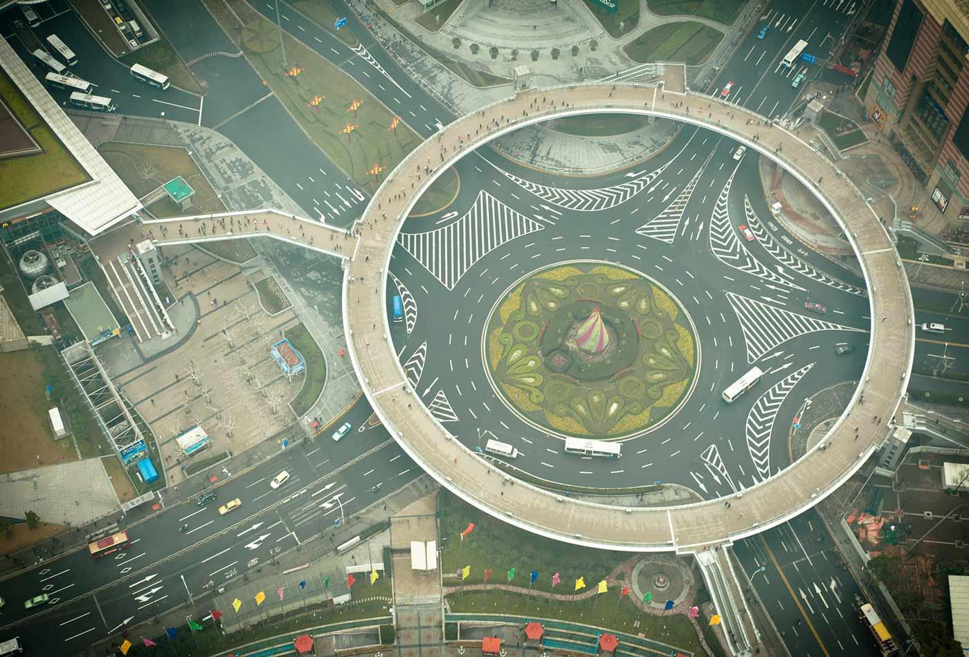 Shanghai roundabout.